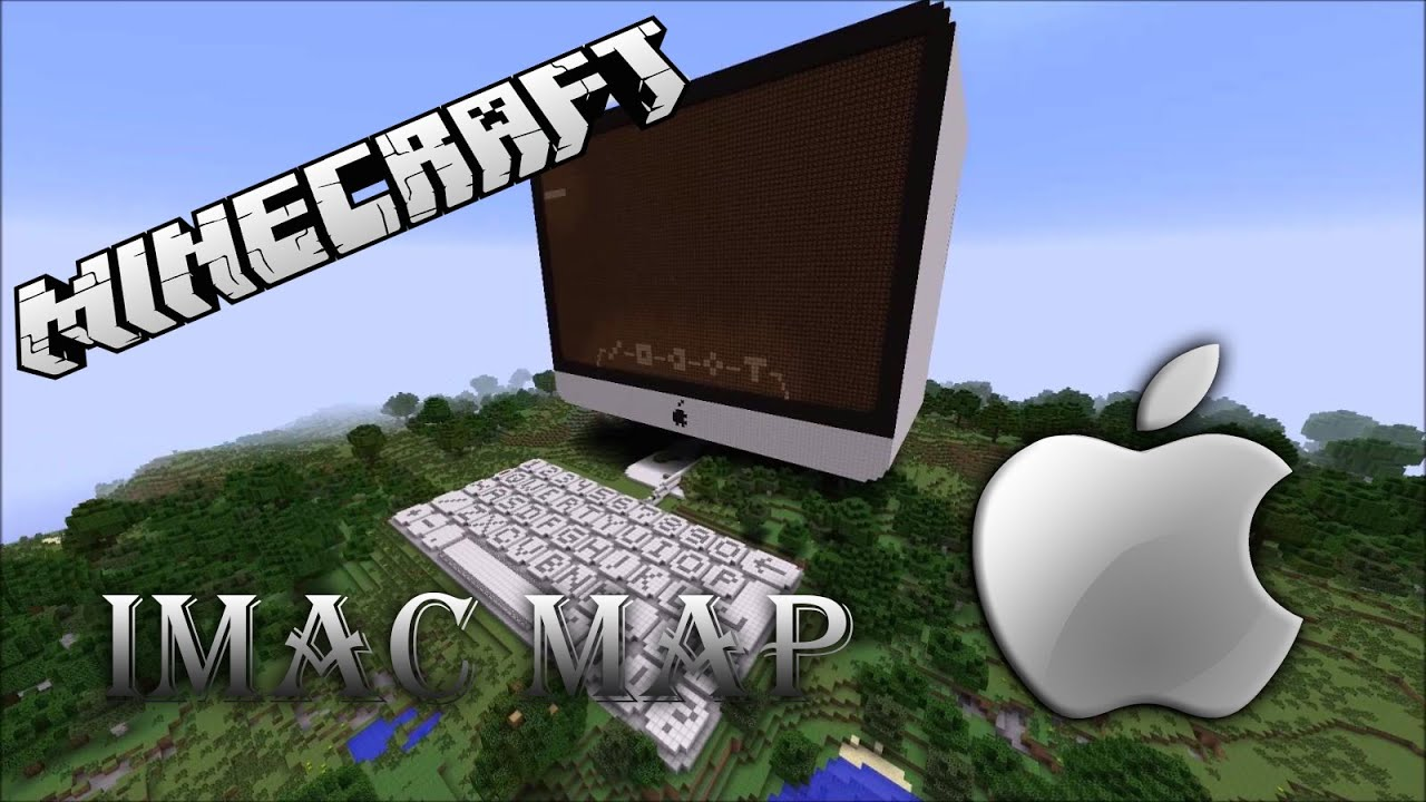 minecraft apple imac computer map (free download) - youtube