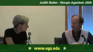 Judith Butler and Giorgio Agamben. Eichmann, Law and Justice. 2009 3/7
