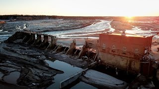 Spencer Nebraska Dam Collapse/ US 281 Bridge Drone Footage 4k