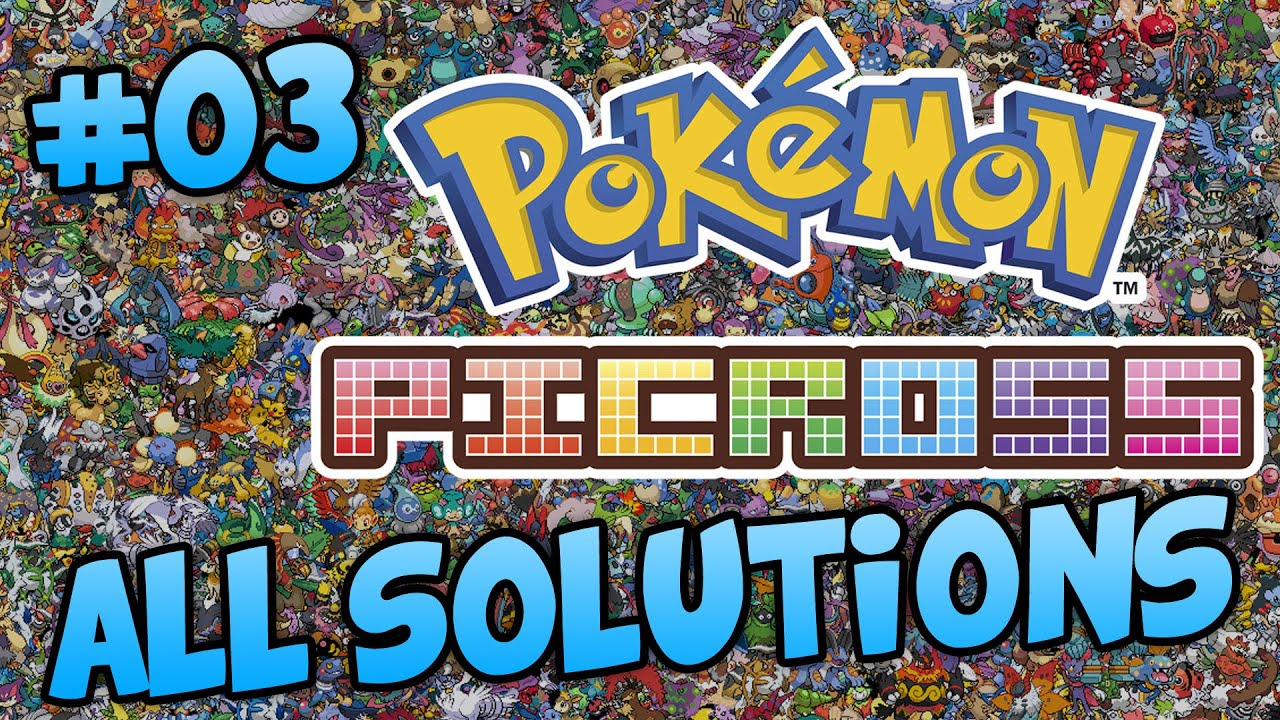 Pokemon picross area 03 all solutions ash greninja for Pokemon picross mural 2