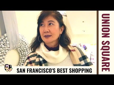 Holidays In Union Square, San Francisco's Biggest Shopping Area