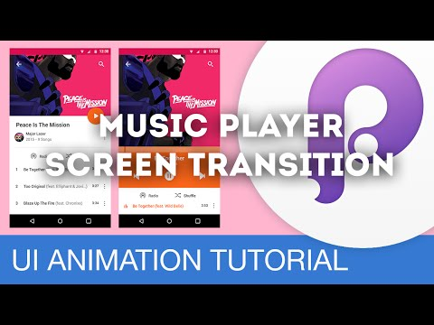 Music Player Screen Transition • UI/UX Animations with Principle & Sketch (Tutorial)