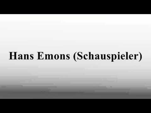 Hans Emons (Schauspieler)