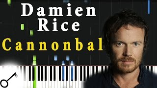 Damien Rice - Cannonball [Piano Tutorial] Synthesia | passkeypiano