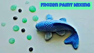 FROZEN PAINT MIXING: Satisfying ASMR Video Compilation! [Part 6]