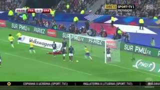 Video Pháp   Brazil, Clip giao hữu bóng đá Pháp vs Brazil