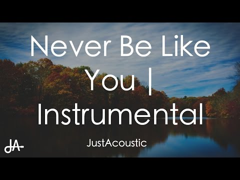 Never Be Like You - Flume ft. Kai (Acoustic Instrumental)