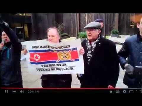 Protest outside of South Korean embassy in UK on Western puppet regimes