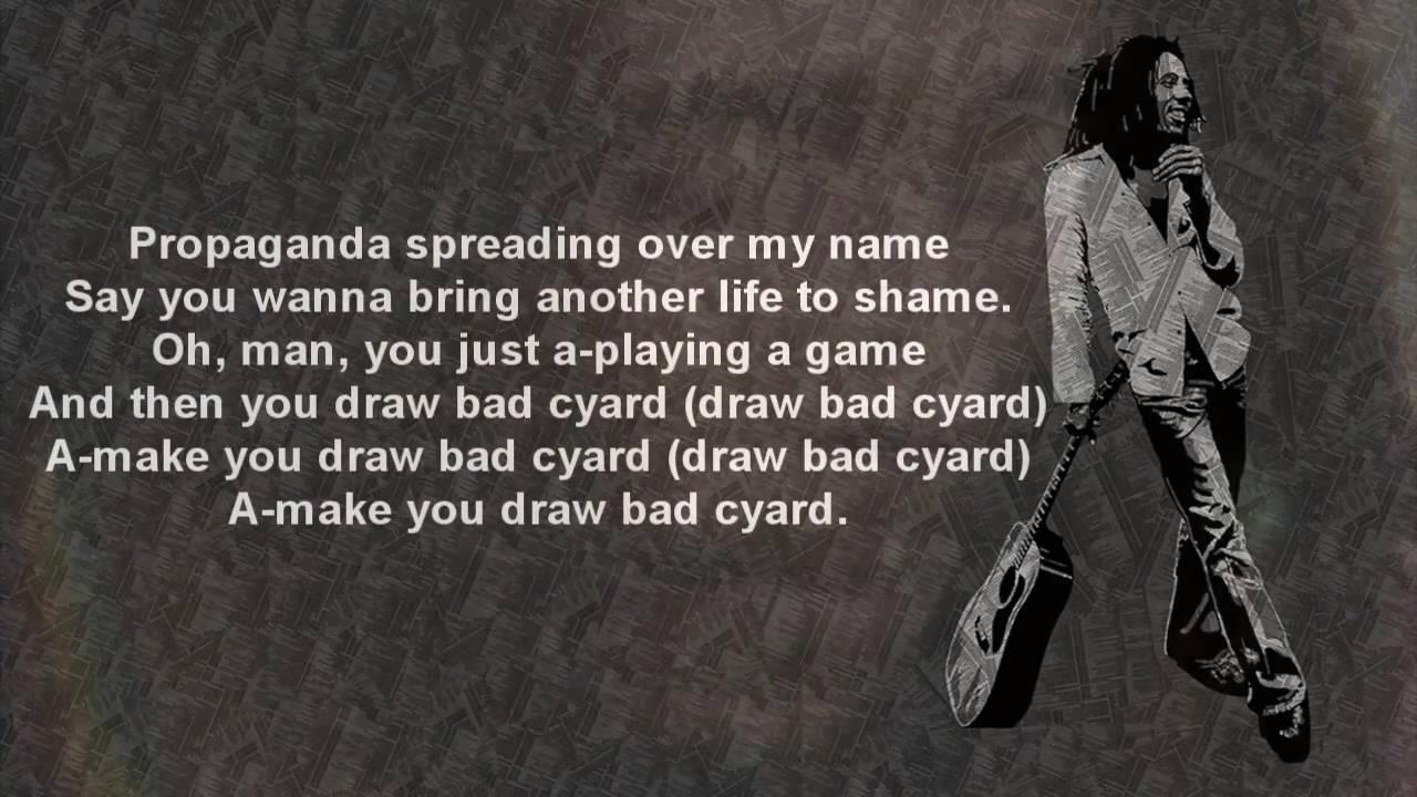 Bob Marley - Bad Card (w/Lyrics)