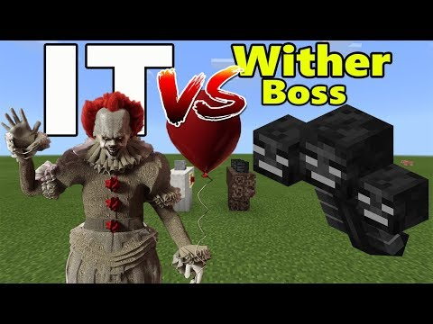 IT vs Wither Boss | Minecraft PE