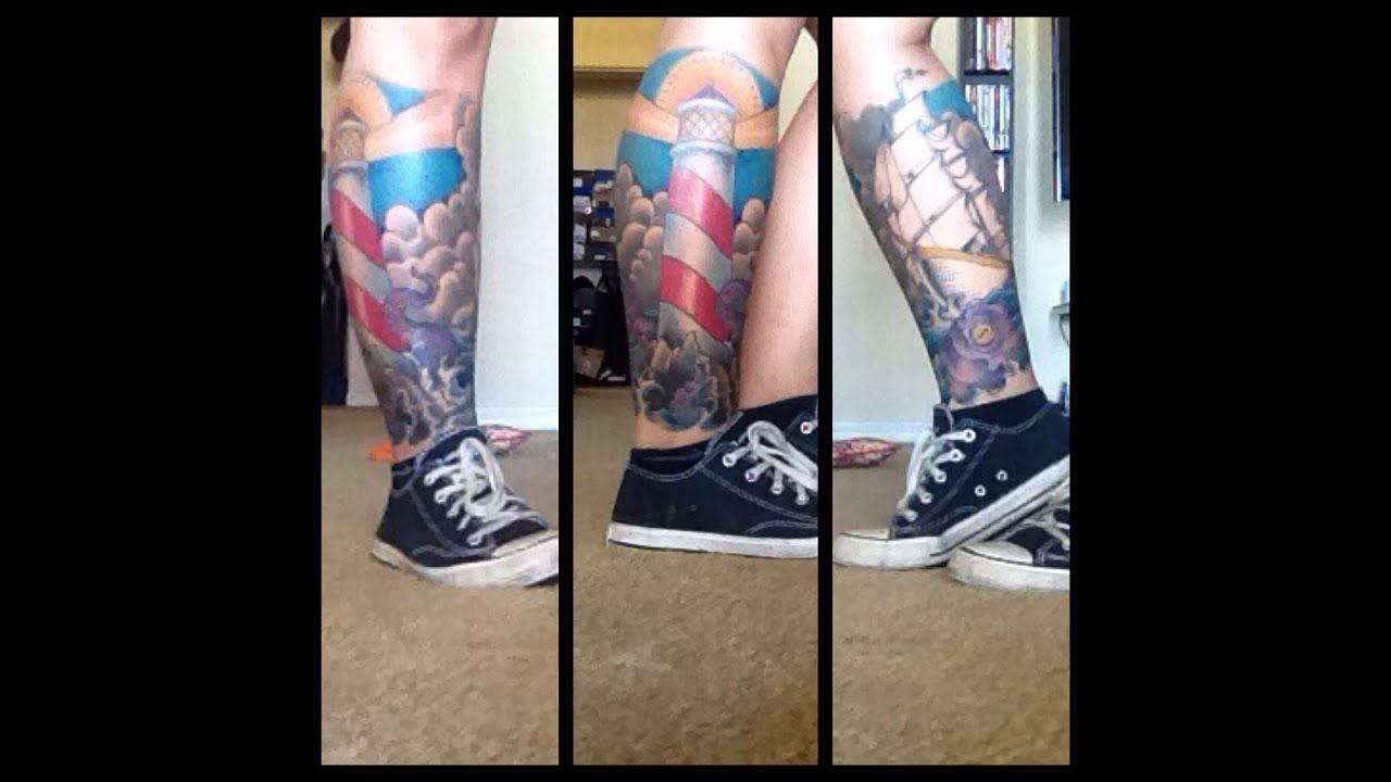 Tattoo update leg sleeve youtube for Leg sleeve tattoo girl