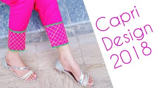 Stylish capri bottom design cutting and stitching