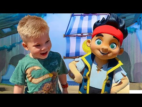 MEETING JAKE AND THE NEVERLAND PIRATES! - Disney World Meet and Greet at Hollywood Studios and EPCOT