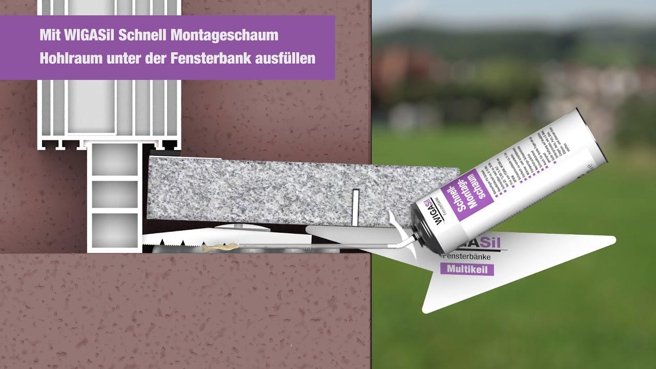 Fensterbank einbau naturstein br stungsset youtube - Naturstein fensterbank einbauen video ...