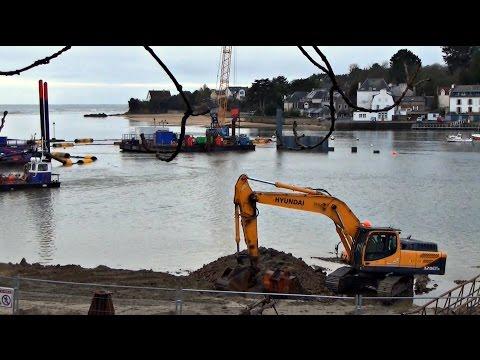 construction du nouveau port de plaisance ; guidel plages ; travaux ; bretagne