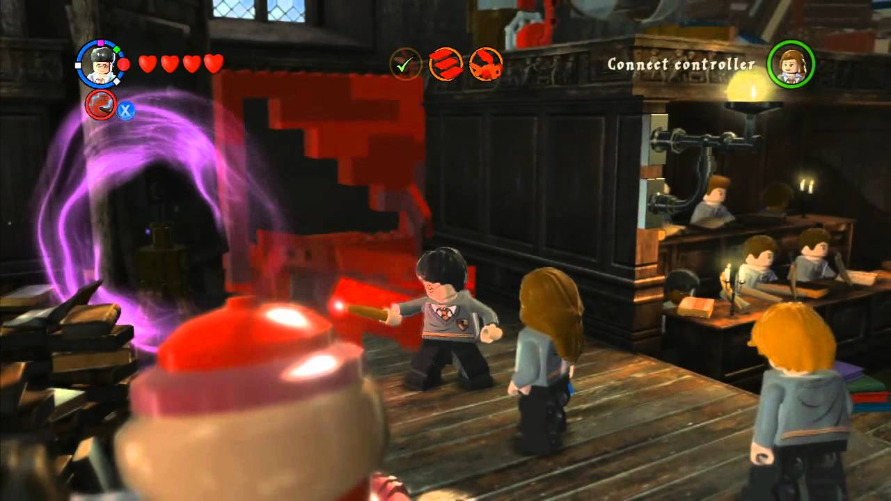 Lego Harry Potter Years 5 7 Walkthrough 7 Year 5 Diffindo Lesson Youtube