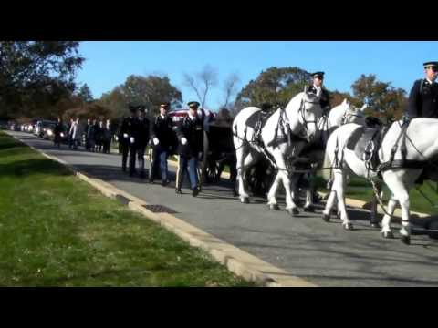 Military Funeral at Arlington National Cemetery - An Army Band Passes