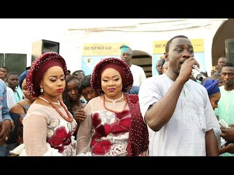 See the expensive glamorous Aso Ebi Alaafin of Oyo Wives rocked at their twins Naming ceremony