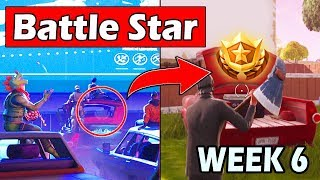 SECRET BATTLE STAR WEEK 6 SEASON 5 LOCATION! - (Road Trip Challenges) Fortnite Battle Royale