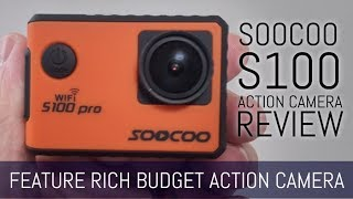 SOOCOO S100 Pro 4K Touch Screen Action Camera review/unboxing with comparison footage