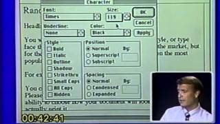 THE MOST BORING VIDEO EVER MADE (Microsoft Word tutorial, 1989)
