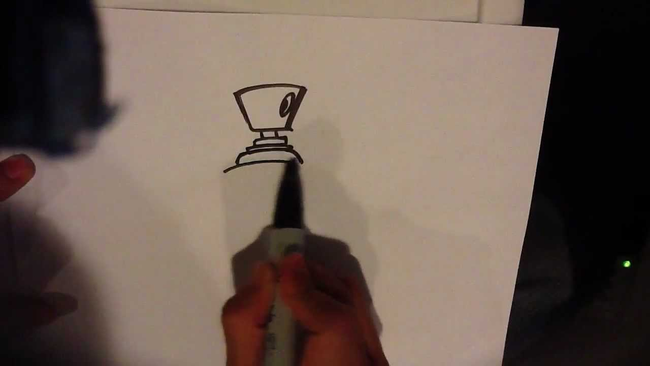 How To Draw A Spray Can Easy Drawings Youtube