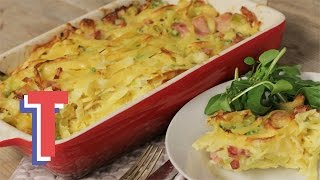 Bacon, Leak And Pea Pasta Bake | We Heart Food S1e5/8