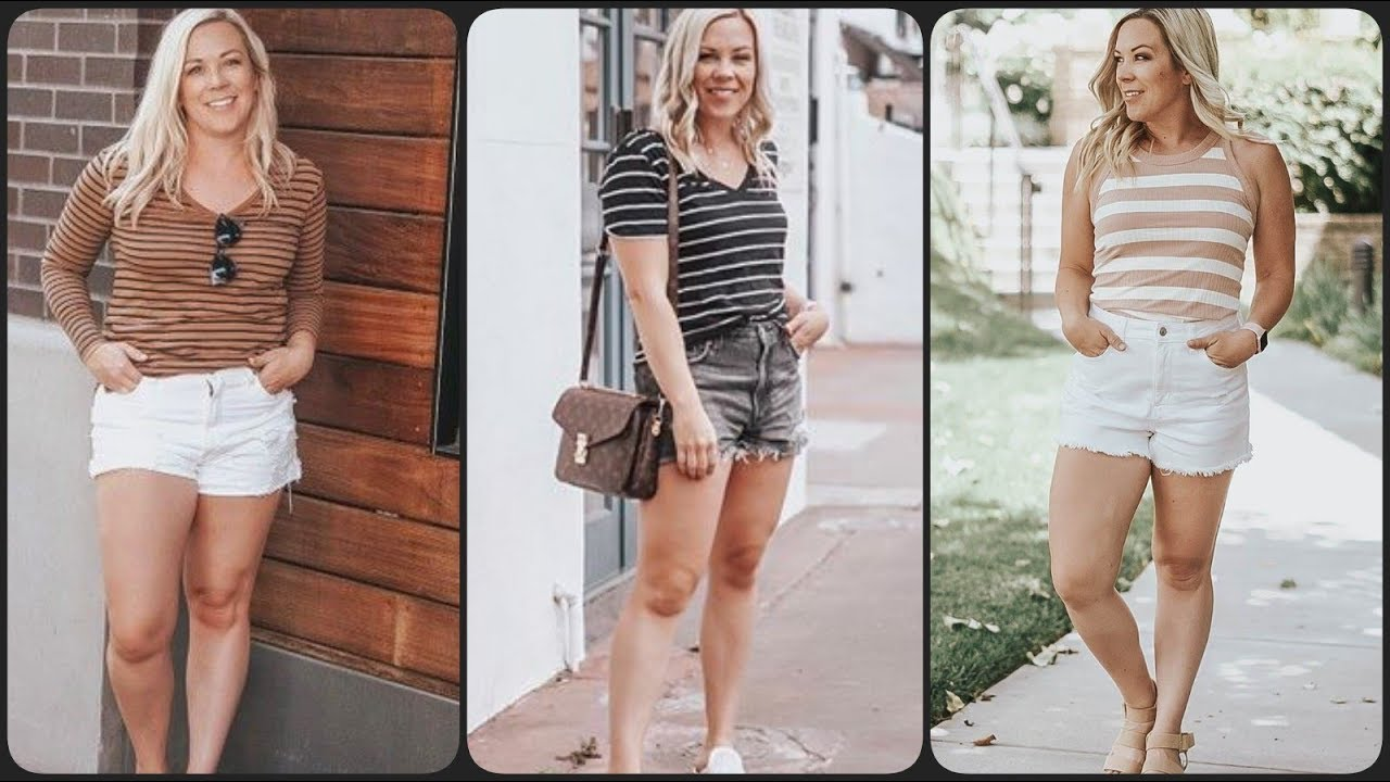 [VIDEO] - CUTE & CASUAL SUMMER OUTFIT IDEAS FOR HIGH WAISTED DENIM SHORTS 2019/2020 8