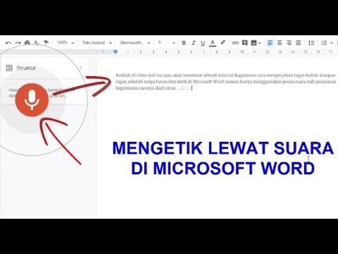 Cara Mengetik Menggunakan Suara Di Microsoft Word Youtube
