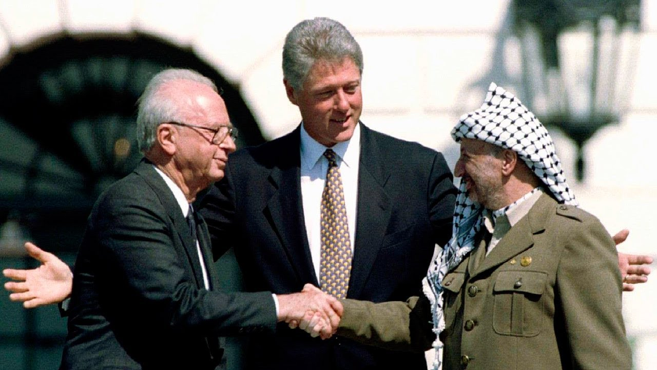 Image result for pics of rabin and arafat shaking hands