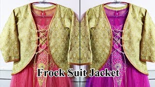 Frock Suit Jacket Cutting and Stitching | Jacket style Anarkali suit, Latest and beautiful jackets
