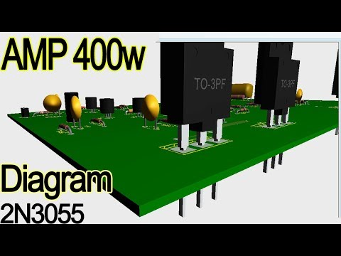 How to make power amplifier 300w to 400w, transistor audio amplifier  circuit diagram