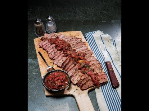 Slow Cooker Marinated Flank Steak W/ Savory Tomato-Onion Jam | Price Chopper Cooking How-To