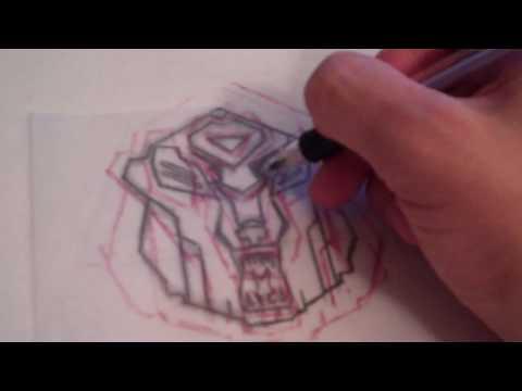 johann creation d un logo mix transformers mix Berlin bear.wmv