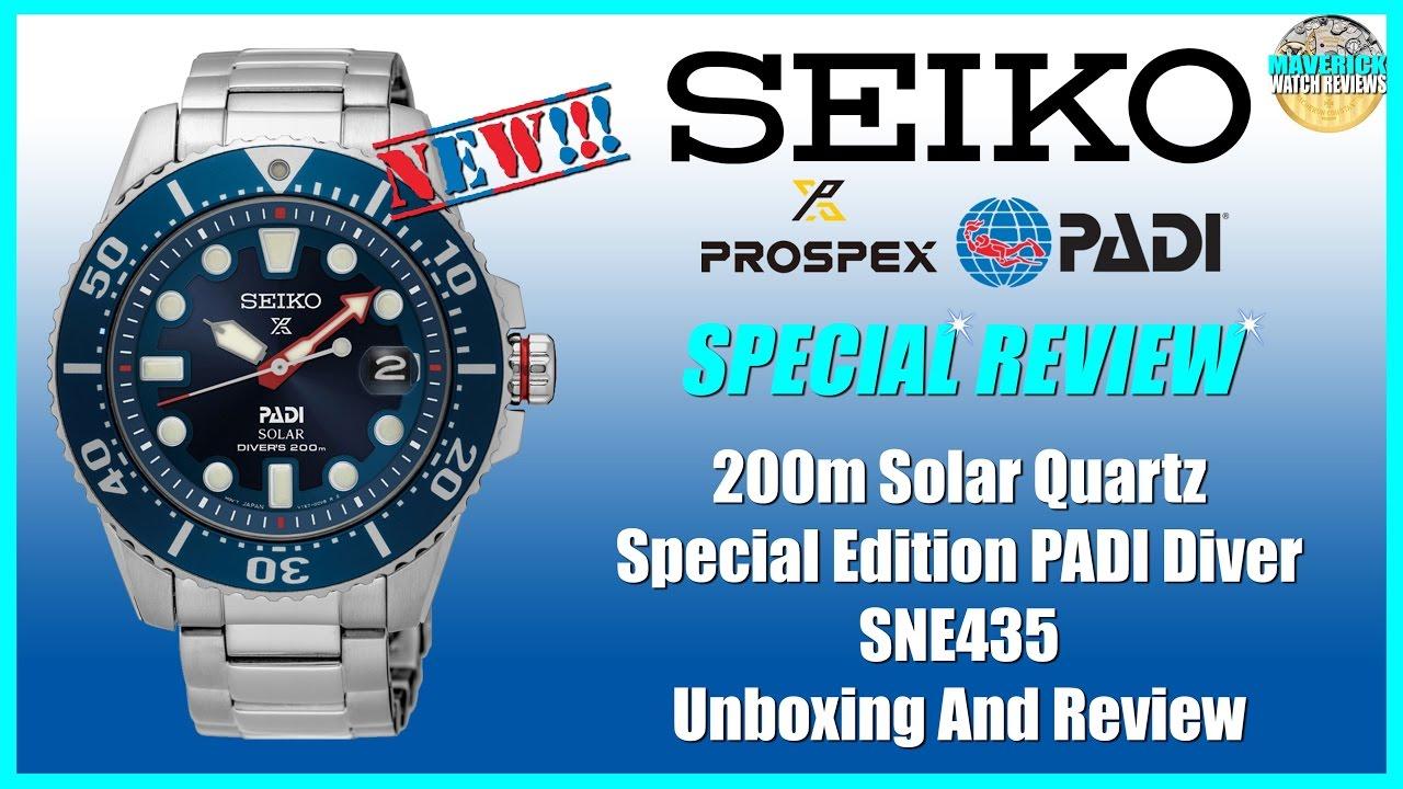 New Legend! | Seiko Prospex PADI Special Edition 200m Solar Quartz Diver  SNE435 Unbox & Review