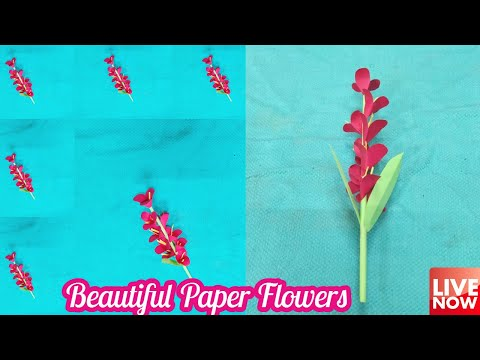 Beautiful Paper Flower Craft Tutorial | LIVE [🔴]
