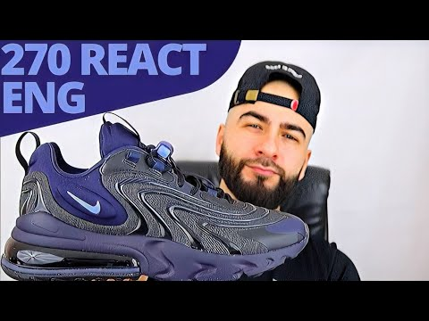 Nike Air Max 270 React Eng Black Obsidian On Foot Review Youtube