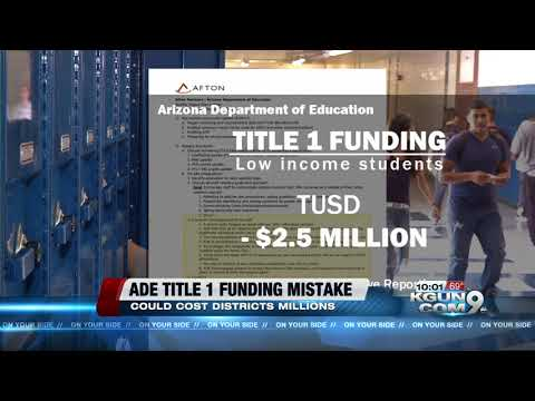 Arizona Department of Education Title I funding error