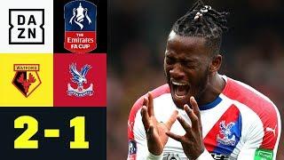 Treffer von Michy Batshuayi reicht nicht: FC Watford - Crystal Palace 2:1 | FA Cup | DAZN Highlights