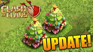 """Clash of Clans - """"CHRISTMAS UPDATE!"""" CoC New 2015 Christmas Tree & Update Glitches (FIXED)!"""