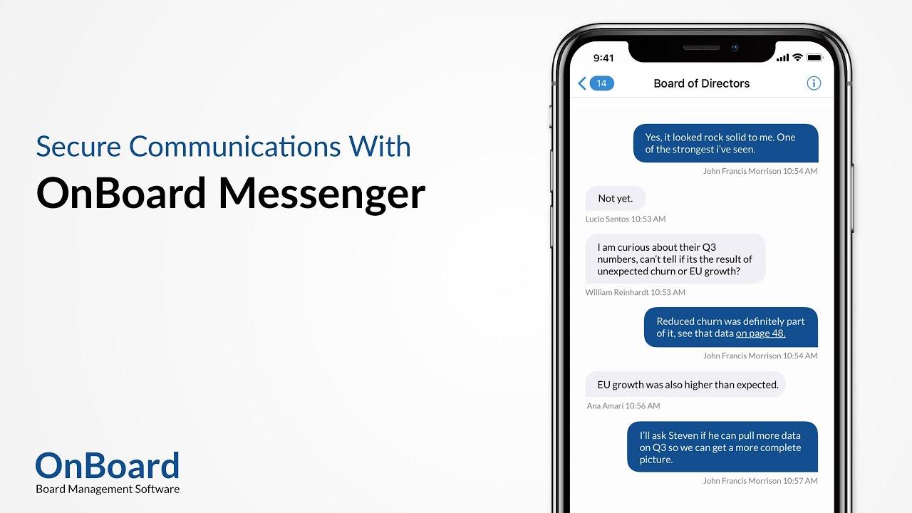 OnBoard Messenger | OnBoard Board Management Software