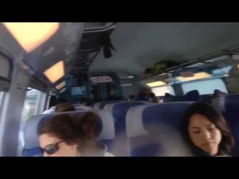TGV Train Travel from Stuttgart to Paris, France Sep. 2015