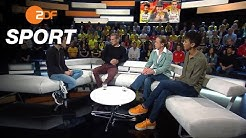 Gäste: Malaika Mihambo, Isabell Werth und Johannes Floors   das aktuelle sportstudio - ZDF