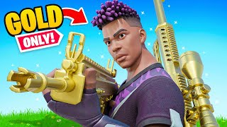 The *VAULTED* GOLD GUNS ONLY Challenge in Fortnite!