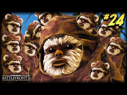 Star Wars Battlefront 2  Funny Moments #24 THE EWOKS HAVE ARRIVED!