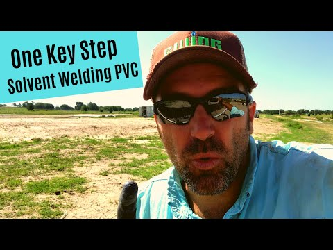 One Key Step in Solvent Welding PVC Pipe