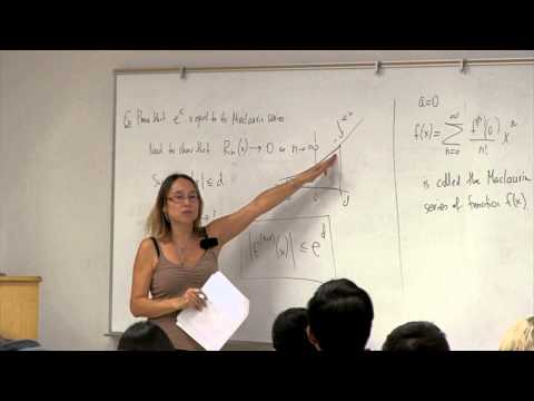 Math 2B. Calculus. Lecture 27. Taylor Series and Maclaurin S