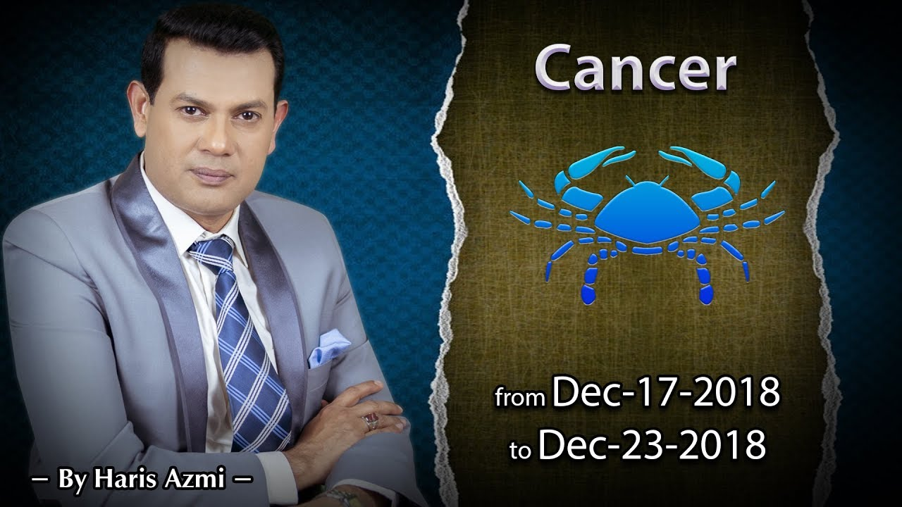 Cancer Weekly Horoscope from Monday 17th to Sunday 23rd December 2018