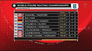 2016 Worlds - Pairs FS Full Broadcast CBC