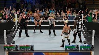 WWE - THE ROCK Y UNDERTAKER! SUPER COMBATE!